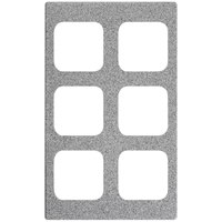 Vollrath 8244324 Miramar 6 Compartment Gray Granite Resin Adapter Plate for Vollrath 40003 Pans