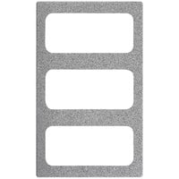 Vollrath 8244224 Miramar 3 Compartment Gray Granite Resin Adapter Plate for Vollrath 40004 Pans