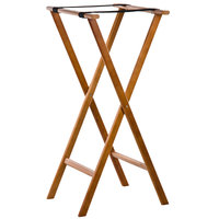 "Lancaster Table &amp&#x3b; Seating 38"" Folding Wood Tray Stand Light Brown"