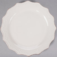 10 Strawberry Street OXFRD-CRM-1 Oxford 11 inch Cream Stoneware Plate - 24/Case