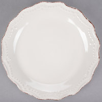 10 Strawberry Street OXFRD-CRM-4 Oxford 8 5/16 inch Cream Stoneware Salad Plate - 24/Case