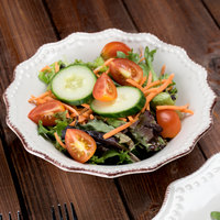 10 Strawberry Street OXFRD-CRM-3 Oxford 16 oz. Cream Stoneware Salad Bowl   - 12/Case