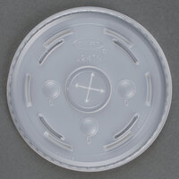Dart Solo L24TN Conex Translucent Plastic Lid with Straw Slot - 1000 / Case