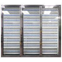 Styleline CL2472-NT Classic Plus 24 inch x 72 inch Walk-In Cooler Merchandiser Doors with Shelving - Anodized Bright Silver, Right Hinge - 3/Set