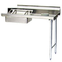 Eagle Group SDTR-60-16/3 60 inch Right Side 16 Gauge 304 Series Stainless Steel Soil Dish Table with Scrap Block