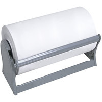 Bulman A520-7 Deluxe 7 1/2 inch Gray Steel All-In-One Paper Dispenser / Cutter with Straight Edge Blade