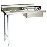 Eagle Group SDTL-48-16/3 48 inch Left Side 16 Gauge 304 Series Stainless Steel Soil Dish Table with Scrap Block