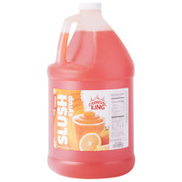 Carnival King 1 Gallon Orange Slushy Syrup - 4/Case