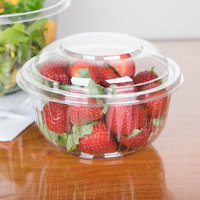 Dart PET16BCD PresentaBowls 16 oz. Clear Plastic Bowl with Dome Lid - 252/Case