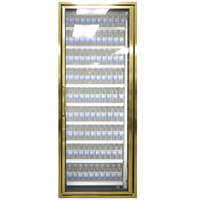 Styleline CL2472-NT Classic Plus 24 inch x 72 inch Walk-In Cooler Merchandiser Door with Shelving - Anodized Bright Gold, Right Hinge