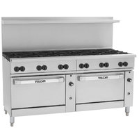 Vulcan 72SC-12BP Endurance 12 Burner Liquid Propane Range with One Standard and One Convection Oven - 430,000 BTU