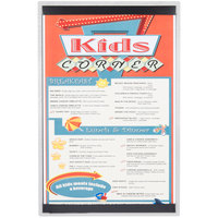 11 inch x 17 inch Menu Solutions ALSIN17-ST Single Panel Brushed Finish Aluminum Menu Board with Top and Bottom Strips