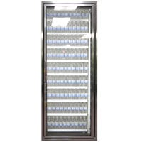 Styleline CL2672-NT Classic Plus 26 inch x 72 inch Walk-In Cooler Merchandiser Door with Shelving - Anodized Bright Silver, Right Hinge