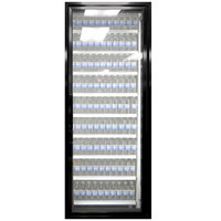 Styleline CL2672-NT Classic Plus 26 inch x 72 inch Walk-In Cooler Merchandiser Door with Shelving - Satin Black, Right Hinge