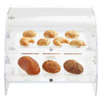 Vollrath XLBC2P-1826-13 Extra Large Acrylic 2 Tray Bakery Case with Mirrored Rear Doors and LED Lighting