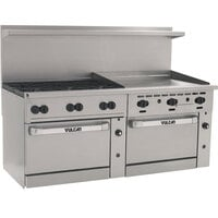 Vulcan 72SC-6B-36GT-N Endurance 6 Burner 72 inch Natural Gas Thermostatic Range with 36 inch Griddle and One Standard / One Convection Oven - 310,000 BTU