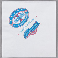 Choice 10 inch x 10 inch White 1-Ply Customizable Beverage / Cocktail Napkins - 5000/Case