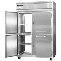 Continental Refrigerator 2R-SA-PT-HD 52 inch Solid Half Door Pass-Through Refrigerator