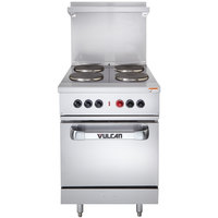Vulcan EV24S-4FP2083 Endurance Series 4 Burner 24 inch Electric Range with Oven Base - 208V, 13 kW
