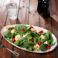 GET OP-1690-TC Osslo 16 inch x 9 inch Tuscan White Oval Melamine Platter   - 6/Case