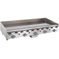 Vulcan MSA-60-102 60 inch Countertop Liquid Propane Griddle with Snap-Action Thermostatic Controls - 135,000 BTU