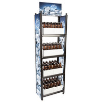 4-Shelf Beer and 6-Pack Display Rack - 20 inch x 11 inch x 62 inch