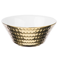 10 Strawberry Street CAIRO-7-GLD Cairo 16 oz. Gold Round Cereal Bowl - 48/Case