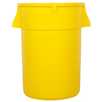 Continental 4444YW Huskee 44 Gallon Yellow Trash Can