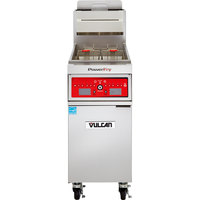 Vulcan 1VK45A-1 PowerFry5 45-50 lb. Natural Gas Floor Fryer with Solid State Analog Controls - 70,000 BTU