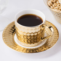 10 Strawberry Street CAIRO-9-GLD Cairo 7.5 oz. Gold Cup and Saucer Set - 24/Case