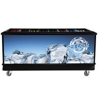 Black 280 Qt. Ice Island with Dividers - 80 inch x 35 inch x 36 inch