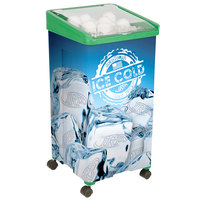 32 Qt. Green Micro Mobile Merchandiser / Cooler - 16 inch x 16 inch x 32 inch