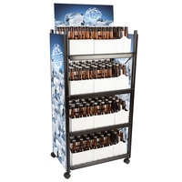 4-Shelf Beer and 6-Pack Display Rack - 23 inch x 16 1/2 inch x 52 inch