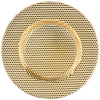 10 Strawberry Street DECO-340GLD Deco 13 inch Gold Porcelain Charger Plate