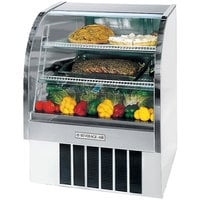 Beverage Air CDR4/1-W-20 White Curved Glass Refrigerated Bakery Display Case 49 inch - 18.1 Cu. Ft.