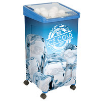 IRP 32 Qt. Blue Micro Mobile Merchandiser / Cooler - 16 inch x 16 inch x 32 inch
