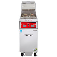Vulcan 1VK85CF-1 PowerFry5 85-90 lb. Natural Gas Floor Fryer with Computer Controls and KleenScreen Filtration System - 90,000 BTU