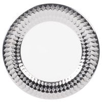 10 Strawberry Street CAIRO-1-SLV Cairo 10 1/2 inch Silver Round Dinner Plate   - 18/Case