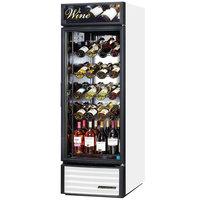 True GDM-23W-LD White One Glass Door Refrigerated Wine Merchandiser - 23 Cu. Ft.