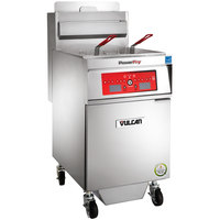 Vulcan 1VK65CF-1 PowerFry5 65-70 lb. Natural Gas Floor Fryer with Computer Controls and KleenScreen Filtration System - 80,000 BTU