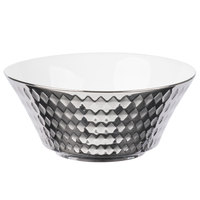 10 Strawberry Street CAIRO-7-SLV Cairo 16 oz. Silver Round Cereal Bowl - 48/Case