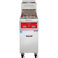 Vulcan 1VK45C-2 PowerFry5 45-50 lb. Liquid Propane Floor Fryer with Computer Controls - 70,000 BTU