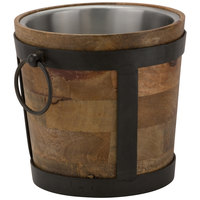 10 Strawberry Street TELL-8WINEBKT Telluride 128 oz. Natural Wood Wine / Ice Bucket