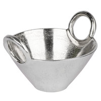 10 Strawberry Street LODO-9HNDBWL-SLV Lodo 24 oz. Raw Silver Handled Metal Bowl - 8/Case
