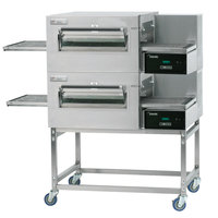 Lincoln 1180-2V Impinger II 1100 Series Ventless Double Electric Conveyor Oven Package - 208V, 10 kW, 3 Phase