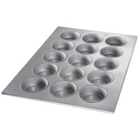 Chicago Metallic 43038 15 Mold Aluminized Steel Customizable Mini Cake Pan - 17 7/8 inch x 25 7/8 inch