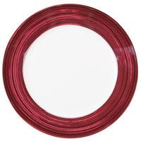 10 Strawberry Street BISTRO-1-RAS Raspberry Rim Bistro 10 5/8 inch Round Dinner Plate - 24/Case