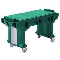 Cambro VBRT6519 Green 6' Versa Work Table with Standard Casters