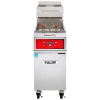 Vulcan 1TR65D-2 PowerFry3 Liquid Propane 65-70 lb. Floor Fryer with Solid State Digital Controls - 80,000 BTU