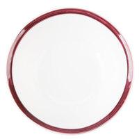 10 Strawberry Street BISTRO-7-RAS Raspberry Rim Bistro 12 oz. Round Salad Bowl   - 36/Case